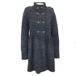 Style & Co Long Grey Military Knit Cardigan XL